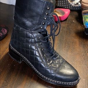 Vince Camuto combat boots